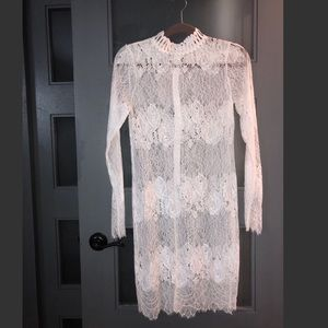 Dresses & Skirts - 💕Last Chance Sale💕 Lace sheer white dress